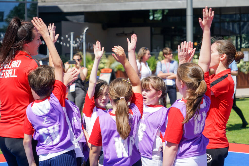 Bee Netball's launch in Liverpool.